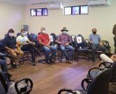 Vereadores em reunião da SEDOP